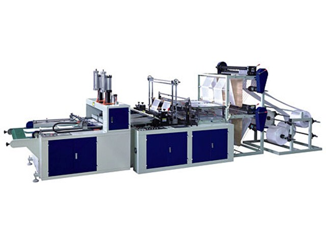 cold cutting and hot sealing bag making machine with auto puncher