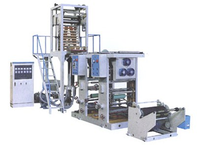 PE film blowing machine with online rotogravure printing