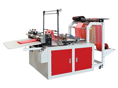 computer control double roll cold cutting and hot sealing bag making machine