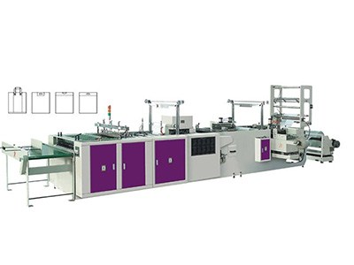 four-function automatic soft loop hadle bag-making machine with servo motor