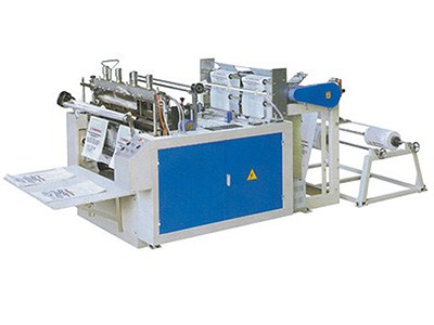 hot sealing and hot cutting bag making machine