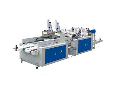 hot sealing and hot cutting bag making machine with auto puncher