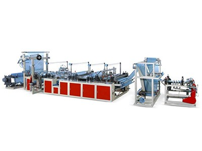 Ribbon-through Continuous-rolled Bag Making Machine